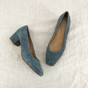 MADEWELL Midnight Spruce The Raquel Pump In Suede